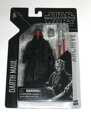 darth maul star wars the black series archive series basic action figures 2019 hasbro mosc a (tjparkside) Tags: darth maul star wars black series archive 6 six inch figures figure 2019 hasbro sith wave 2 lightsaber lightsabers double end ended cloak hood binoculars horns apprentice phantom menace tpm episode 1 one prequel qui gon quigon jinn obi wan obiwan kenobi naboo 2013 basic action mosc