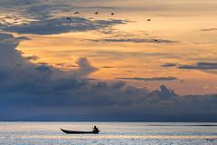 Zen... (Fabrice L.) Tags: 2019 couchersoleil mada2019 pirogues saintemarie madagascar zen tranquille tranquility sunset clouds nuages ciel pastel