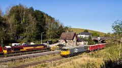 GBRf 56098 at Peak Forest with DB 66177 (37001) Tags: warrington 60019 56098 6h02 arpley tunstead peakforest gbrf gbrailfreight 66177 db deutschebahn