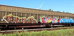 Graffiti on Freights (wojofoto) Tags: amsterdam nederland netherland holland graffiti streetart vrachttrein freighttraingraffiti freighttrain fr8 freights cargotrain wojofoto wolfgangjosten funk merci benoi