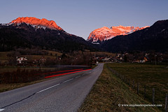 Col de la Forclaz - France (My Planet Experience) Tags: coldelaforclaz col pass forclaz sunset annecy green tree fall blue sky cloud snow mountain landscape alpes haute savoie french alps france f myplanetexperience wwwmyplanetexperiencecom