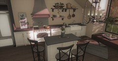 Wickman's Seasoned Kitchen (Miru in SL) Tags: secondlife sl muniick home garden kitchen jian llorisen dog pet decor furniture