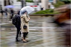 Transparent (Fermat 48) Tags: rain street stpeterssquare manchester umbrella seethrough transparent reflection wet water blur motion canon eos 7dmarkii ef24105mmf4lisusm