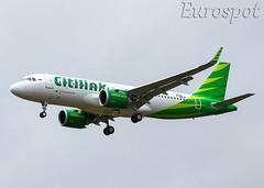 F-WWIB Airbus A320 Neo Citilink (@Eurospot) Tags: toulouse blagnac lfbo airbus neo a320 9280 pkgtk citilink fwwib