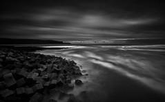 Doolin Dolosse (-- Q --) Tags: republicofireland wildatlanticway doolin atlanticocean inisheer longexposure blackandwhite monochrome leefilters qthompson coclare clouds seascape rocks marumidhgcpl
