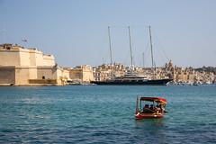 Malta - The Grand Harbour Valletta (Peter Meade) Tags: petermeade pjmeade malta gozo camino travel travelling holiday mediterranean mediterraneansea timeoff landmarks islandlife grandharbourvalletta luzzu canoneos5dmarkiii