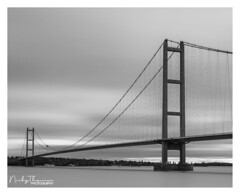 Humber Bridge (Nicky Thomas Photography) Tags: photographer visitbritain flickrsbest nikon nikond750 black white bw monochrome split tone noir landscape dramatic amateur d750 england great britain united kingdom europe reflection pictureperfect lovegreatbritain culture visitengland welshmanwithacamera explore fx photography longexposure architecture bridge bridges bridgephotogcaphy