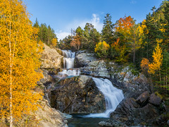 """Cascada de Sant Esperit"", Aigüestortes i Estany de Sant Maurici National Park, Spain (LongLensPhotography.co.uk - Daugirdas Tomas Racys) Tags: park travel autumn trees light sunset wild sky terrain mountain mountains color colour art fall nature water colors beauty canon landscape photography golden evening photo waterfall nationalpark spring spain october scenery rocks stream europe day view scenic vivid eu drop catalonia hike fresh hills colourful autumnal pyrenees fiery torrent lleida santmaurici santesperit llebreta aigüestortesiestanydesantmaurici riudesantnicolau cascadadesantesperit"