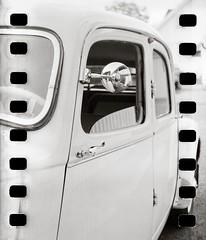 Old car (Geir Bakken) Tags: fomapan car veteran vintagecamera vintage blackandwhite bw film filmisnotdead filmphotography 127camera 135film 135 sprocket analogphotography analog yashica yashica44 perfectbeauty reflection