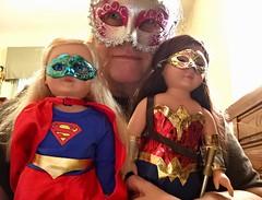 Masks for dolls and me👧🎀👩 (Jeanne1931) Tags: masks wonderwoman supergirl madamealexanderdolls