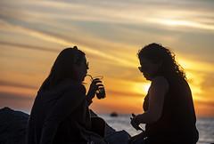 PIRANO. TRAMONTO. (FRANCO600D) Tags: 1001nightsthenew pirano slovenia coppia brindisi silhouette sunset tramonto mare controluce canon eos6dmarkii 6dmarkii canoneos6dmarkii canon6dmarkii franco600d