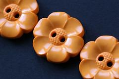 buttons (Patrick ~J~) Tags: macromondays inarow buttons orange plastic flowers row line detail