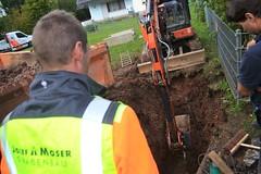 Wasserrohrbruch Strietweg - 04.10.2019 (GoldstadtTV) Tags: strietweg wasserrohrbruch bagger baggern josef moser