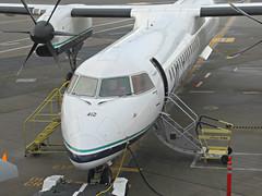 Alaska/Horizon DHC-8 401 (kenjet) Tags: canadair dehavilland dash8 dhc8 dhc8401 412 qx as alaska alaskaairlines horizonair ramp ksea sea seatac airport flugzeug prop plane airline airliner seattle horizon