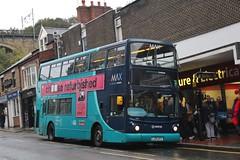 Arriva MAX 7418 / LJ55 BTV (TEN6083 (kieron mathews)) Tags: transport publictransport bus buses nebuses arriva arrivanortheast arrivamax 7418 volvo durham northroad alx400 alexanderdennis b7tl lj55btv