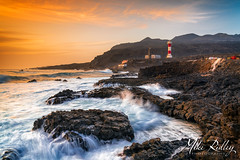 Fierce seas (Mike Ridley.) Tags: fuencalientelighthouse lighthouse sunset leefilters sonya7r2 sony2470fegm lapalma canaryislands mikeridley nature seascape