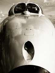 Hunter nose (Looncolin) Tags: bnwaircraft jetairplane jet twoseathunter airplane vintageaircraft fighterjet hawkerhunter