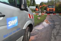 Wasserrohrbruch Strietweg - 04.10.2019 (GoldstadtTV) Tags: strietweg wasserrohrbruch bagger baggern