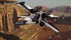 Partisan X-Wing Over Jedha (Moppo!) Tags: xwing starwars starfighter partisan jedha rogue one saw t65