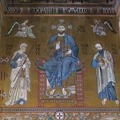 Sicily, Palermo, Capella Palatina, Christ Pantocrator (Adfoto) Tags: bible bijbel mosaïc mozaiek italy italië sicily sicilië chapel kapel