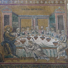Sicily, cathedral of Monreale: the Last Supper (Adfoto) Tags: bible bijbel mosaïc mozaiek italy italië sicily sicilië palermo church kerk