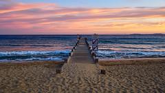 RM-2019-365-277 (markus.rohrbach) Tags: natur landschaft wasser gewässer meer mittelmeer objekt bauwerk verkehrsweg steg wetter sonne sonnenuntergang wolken strand