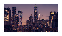 Dusk over Lower Manhattan (Nico Geerlings) Tags: manhattan nyc usa newyorkcity skyline manhattanbridge dusk architecture skyscrapers ngimages nicogeerlings nicogeerlingsphotography