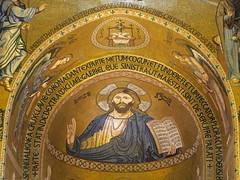 Sicily, Palermo, Capella Palatina, central apsis: Christ Pantocrator (Adfoto) Tags: bible bijbel mosaïc mozaiek itallië italy sicily sicilië chapel kapel apse apsis