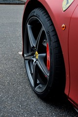 Ferrari wheel (Torquemada1965) Tags: wood parking preselectcom peugot mini mclaren karl ludwig bmw z4 mottoguzzi ferrari honda cb750 alfaromeo 8c westkapelle dike diggerworker