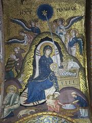 Sicily, Palermo, La Martorana: Birth of Christ (Adfoto) Tags: bible bijbel mosaïc mozaiek italy italië sicily sicilië palermo church kerk