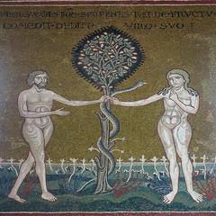 Sicily cathedral of Monreale: the Temptation (Adfoto) Tags: bible bijbel mosaïc mozaiek italy italië sicily sicilië palermo church kerk