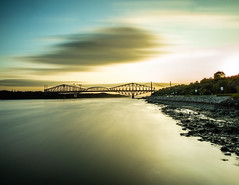 [Quebec & Pierre-Laporte bridges 🌅🌉] (Mads92i) Tags: architecture amazingshoot artist editing eau reflection roche rock reflet toureiffel tree sky paysage nuage lumière quebec bulb outdoors lumiere lightroom ciel ombre photographie photo photographe photography montreal landscape nikon nature vent vacance view chaleur colored cloud canada water lac rivière ponts bridges sunset sunrise soleil sun