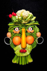 Don't play with your food (Repp1) Tags: bc canada scavengerhunt vegetable arcimboldo face humour visage legumes fruit