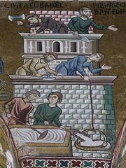 Sicily, Palermo, Capella Palatina, Buiding of the Tower of Babel (Adfoto) Tags: bible bijbel mosaïc mozaiek italy italië sicily sicilië chapel kapel