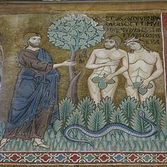 Sicily, Palermo, Capella Palatina, expulsion from the Paradise (Adfoto) Tags: bible bijbel mosaïc mozaiek italy italië sicily sicilië chapel kapel