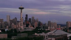 Seattle skyline 6/5/2013 (ccbutch) Tags: skyline columbiacenter twounionsquare 1201thirdavenuetower seattlemunicipaltower citycentre mountrainier seattleretirementhome roadtripusa geotagged wa washington bayviewretirementcommunity