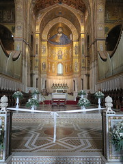 Sicily cathedral of Monreale: also the floor of the choir is very beautiful (Adfoto) Tags: bible bijbel mosaïc mozaiek italy italië sicily sicilië palermo church kerk