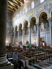 Sicily cathedral of Monreale: the pillars are Roman (Adfoto) Tags: italy italië sicily sicilië palermo church kerk mozaiek mosaïc