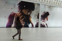 Screen Grab (ho_hokus) Tags: 2019 fujix20 fujifilmx20 manhattan nyc newyorkcity oculus worldtradecenter advert advertisement lady phone