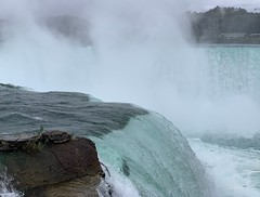Misty water-colored memories of the way we were (remiklitsch) Tags: bluegreen aqua mist terrapinpoint brink precipice blue autumn remiklitsch phonography iphone newyork horseshoefalls water niagarafalls niagara falls panoramic panorama landscape waterscape