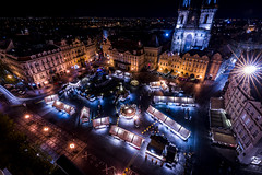 Night View of Old Town Square (Explored) (一 B_A_C 一) Tags: europe 歐洲 sony a73 a7iii a7m3 a7 taiwan 台灣 外拍 旅拍 travel 街拍 street streetphoto streetshot prague czech 布拉格 捷克