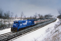 Stretching her legs (Moffat Road) Tags: conrail cr amtrak passengertrain lakeshorelimited ge b237 2020 snow newcarlisle indiana train railroad locomotive in winter emd f40ph