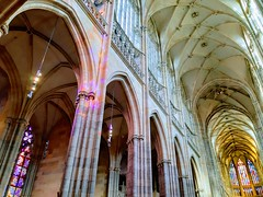The play of LIGHTS & COLORS (Ladyhelen_) Tags: gothiccathedral cathedral light colors unesco stainedglass history historylover walker lookup interior architecture historicarchitecture inspiration talentfordreams city minster stvituscathedral cathedralofstvituswenceslasandadalbert musiclover moby gothicarch heritage petrparléř matyasarras