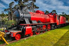 Red Engine (John Hewitt 7) Tags: locomotive steam train red engine vintage railway tasmania