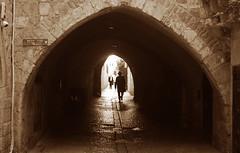 Jerusalem tunnel profile (Harry Szpilmann) Tags: jerusalem oldcity streetphotography orthodoxjew sepia israel middleeast