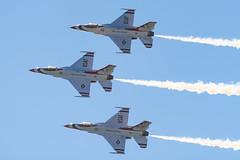 Thunderbirds Go! (rikioscamera) Tags: huntingtonbeach usairforce usaf airacrobatics airforce aircraft airplane airshow d750 haze lightroom nikon sky greatpacificairshow jets display