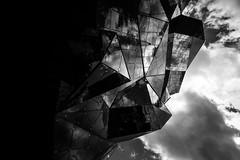Futuroscope de Poitiers, France (pas le matin) Tags: bw nb blackandwhite noiretblanc monochrome travel voyage world poitiers france poitou poitoucharentes futuroscope architecture cloud sky ciel nuages reflection reflet miroir mirror canon 5d 5dmkiii canon5d canon5dmkiii eos5dmkiii canoneos5dmkiii