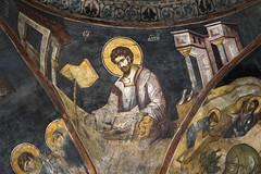 Evangelist Luke (zavar_vera) Tags: northmacedonia ohrid church peribleptos 13thcentury fresco mural michaelandeutychios