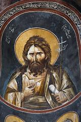 Fresco of the apse of the diaconicon. Saint John Baptist. (zavar_vera) Tags: northmacedonia ohrid church peribleptos 13thcentury fresco mural michaelandeutychios