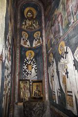 Frescoes of the diaconicon (zavar_vera) Tags: northmacedonia ohrid church peribleptos 13thcentury fresco mural michaelandeutychios